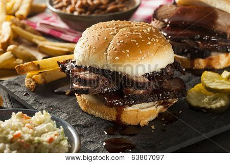 Smoked Barbecue Brisket Sandwich