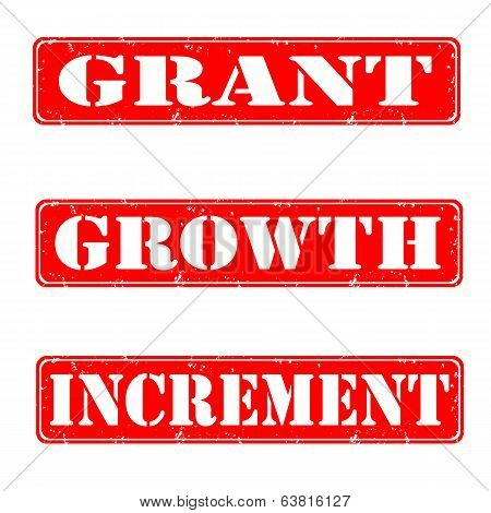 Grant, Growth, Increment Stamps