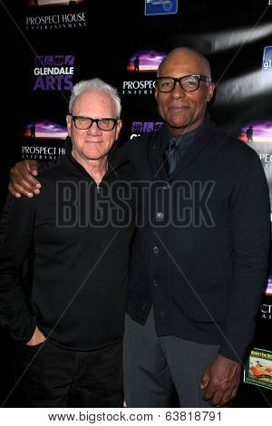 LOS ANGELES - APR 15:  Malcolm McDowell, Michael Dorn at the