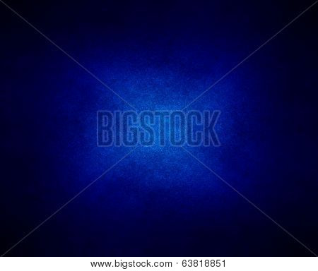 abstract blue background or dark paper with bright center spotlight and black vignette border frame with vintage grunge background texture black paper layout design of light blue graphic art poster