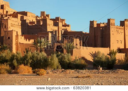 Ait Benhaddou is a fortified city, or ksar, along the former caravan route between the Sahara and Marrakech in Morocco.