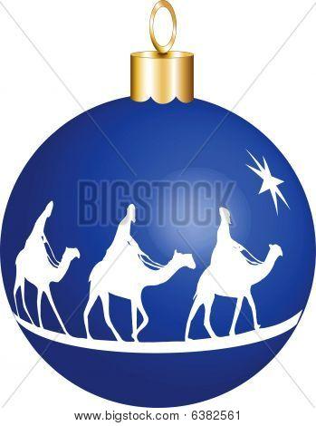 3 Kings Christmas Ornament