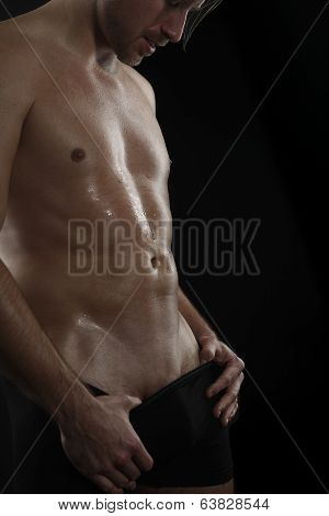 Attractive Man Shirtless