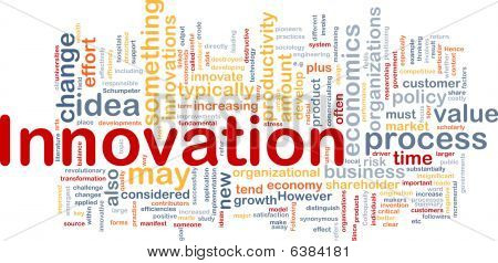 Background concept illustration of business innovation change poster