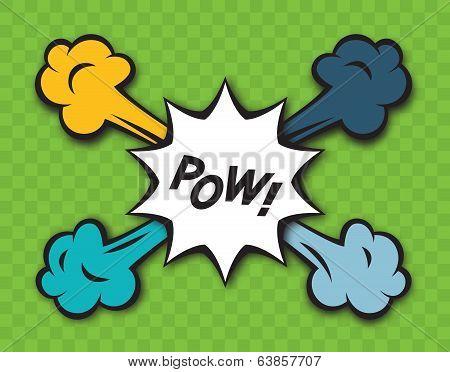 Comic Pow Explosion