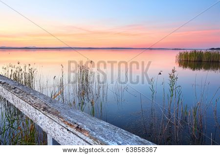 Stunning Sunset And Reflections At Long Jetty Nsw Australia