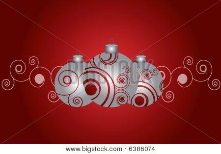Grey Christmas Ornaments