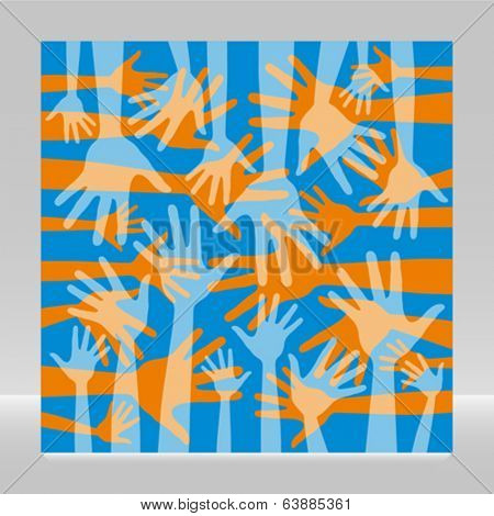 Funky hand pattern design.