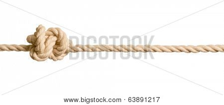 Rope knot isolated on white background