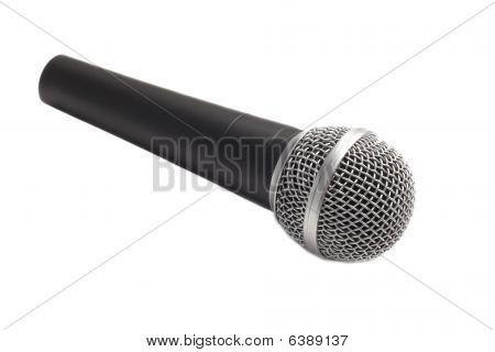 Modern microphone isolated over white