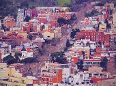 Barcelona Cityscape - view from Parc Turo de la Peira Catalonia Spain poster