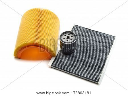 Motor Filter, Cabin Filter And Oil Filter