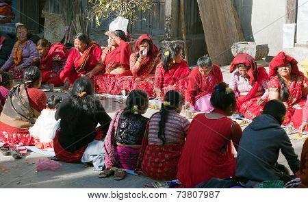 Hinduist Woman In Kathmandu City