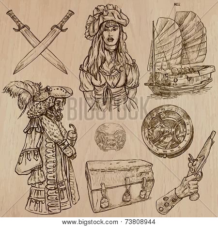 Pirates - An Hand Drawn Vector Pack