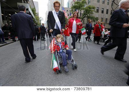 Little marcher in stroller