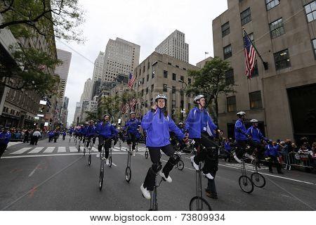 Gym Dandies on unicycles