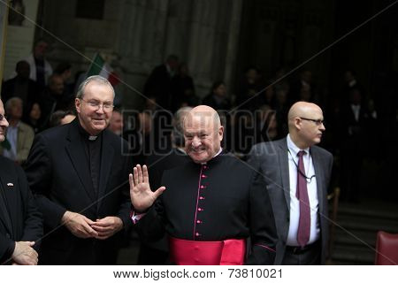 Bishops in front of St. Patrick's cathedral