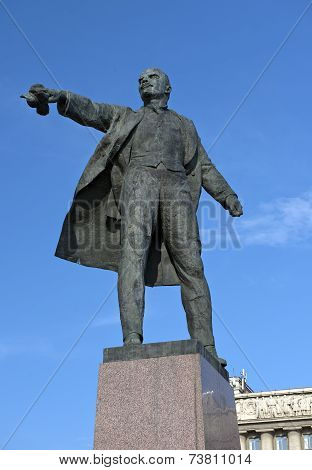 Monument To Lenin On Moscow Square, St Petersburg