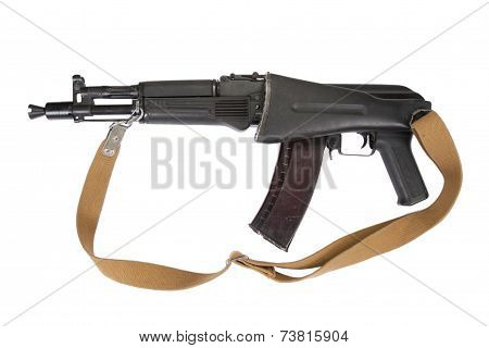 Modern Ak Assault Rifle On White