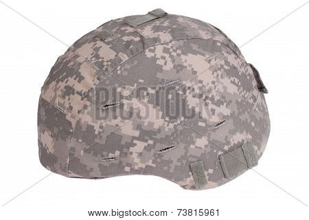 Us Army Kevlar Helmet With Camouflage Cover
