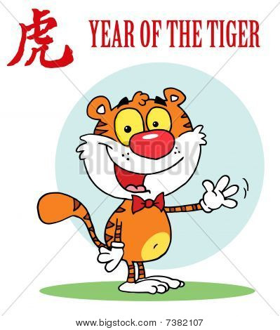 Tiger winkt eine Begrüßung, Hintergrund