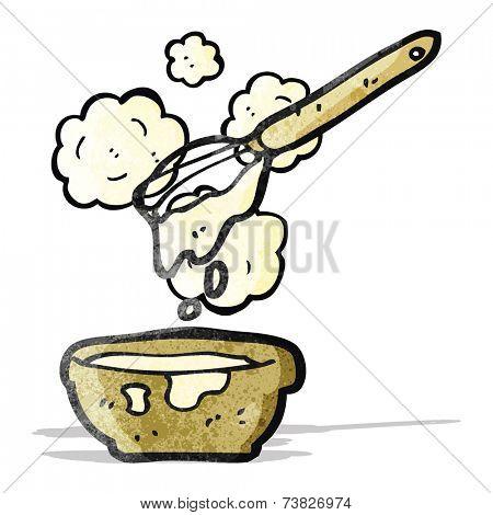 cartoon cake mixture
