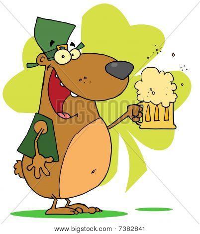 Happy St patrick's Day-bear