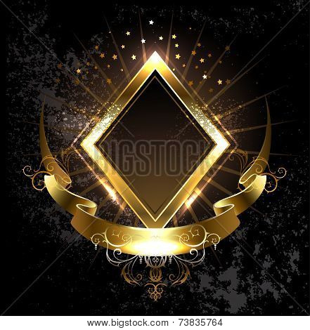 Gold Banner Rhombus