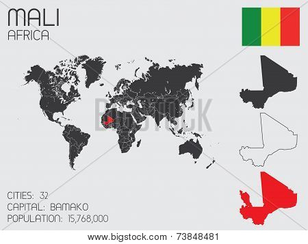 Set Of Infographic Elements For The Country Of Mali