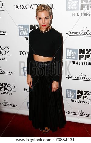 NEW YORK-OCT 10: Actress Sienna Miller attends the