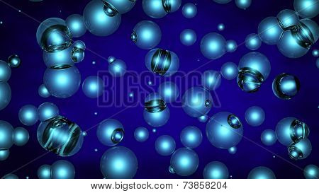Background Of Blue Spheres