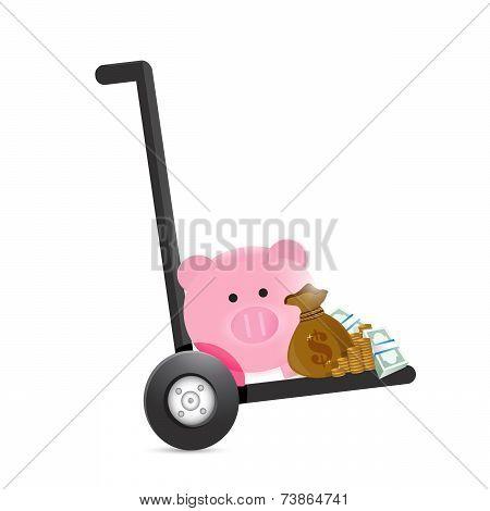 Piggy Bank Handtruck