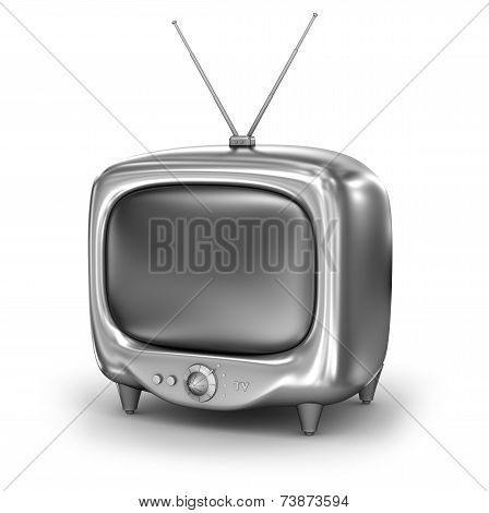 Retro TV Set. Isolated on white background. My own design.