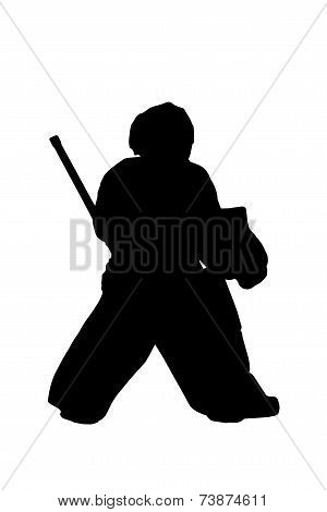 Silhouette Hockey Goalie