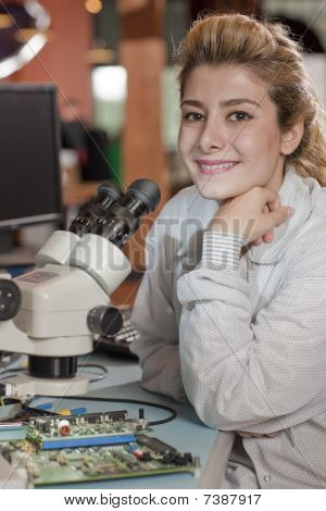 Attractive Young Female Researcher