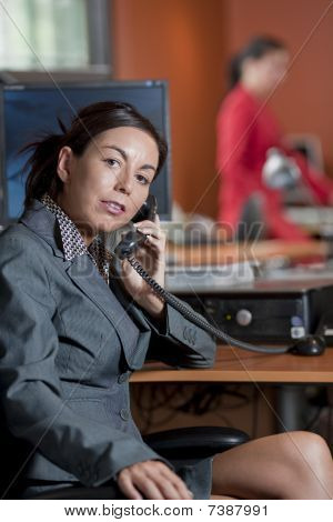 Businesswoman Talking On A Phone