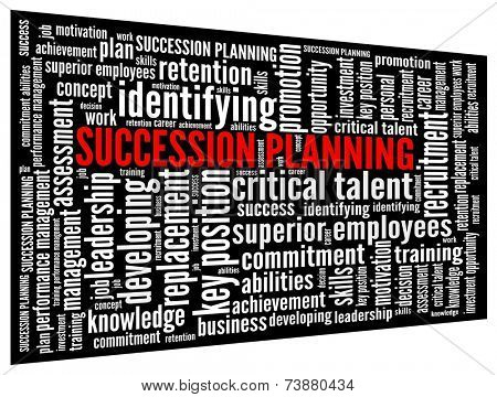 Succession Planning in word collage