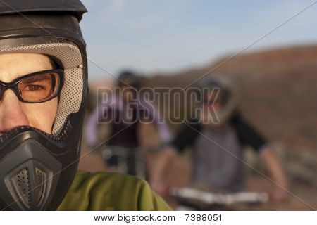 Close Up Of A Mountain Biker