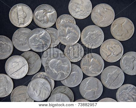 US coin background