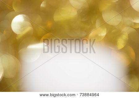 White Below Gold Sparkles