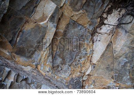 Fragment Of Rough-hewn Stone Of Dark Gray