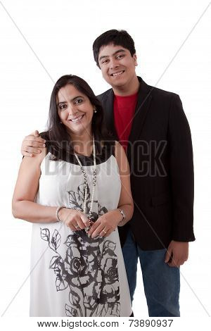 East Indian Mother And Son