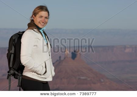 Young Female Hiker Smiling