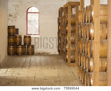 Old Wooden Barrels