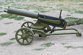 WWI Maxim machine gun isolated on white background poster