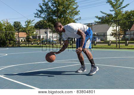 Basketball Player Dribbling