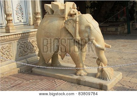 Royal Elephant In Marble