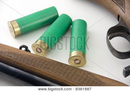 Shotgun And Three Bullets