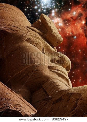 Ramses Ii And Star Cluster Bursts (elements Of This Image Furnis