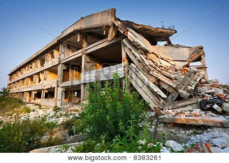 After A Natural Disaster - Ruined Buildings